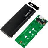 M.2 SATA Logilink SSD-behuizing USB3.1-Gen2/Zwart_