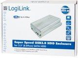 "3.5"" LogiLink Enclosure USB3.0 / SATA / Zilver_"