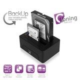EW7014  Docking Station USB 3.1 Gen1 (USB3.0) voor 2.5 en 3.5 inch SATA HDD/SSD_