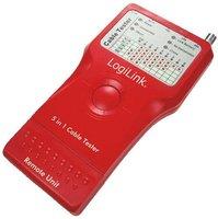 LogiLink Kabeltester RJ45/11/BNC/USB/IEEE1394