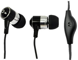 LogiLink Stereo In-Ear Earphone met Microphone zwart