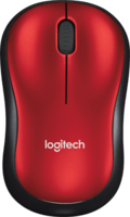 Logitech M185 Optical USB Rood-Zwart Retail Wireless
