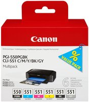 Canon (E) PGI-550/CLI-551 Multipack 50,0ml (Origi