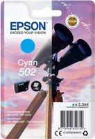 Epson 502 Singelpack Cyaan 3,3ml (Origineel)