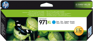 HP No.971XL Cyaan 86,5ml (Origineel)