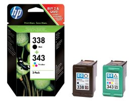 HP No.338 + 343 Zwart/Kleur 11ml (Origineel)