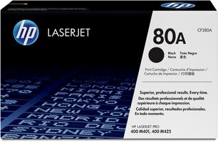 HP No. 80A Zwart 2.700 pagina`s (Origineel) CF280A