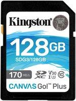 SDXC Card 128GB Kingston U3 V30 Canvas Go! Plus