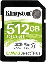SDXC Card 512GB Kingston UHS-I Canvas Select Plus