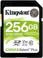 SDXC Card 256GB Kingston UHS-I Canvas Select Plus