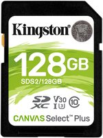 SDXC Card 128GB Kingston UHS-I Canvas Select Plus