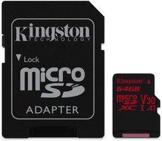 SDHC Card Micro 64GB Kingston UHS-I U3 Canvas React