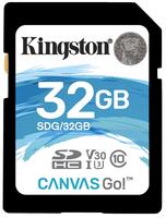 SDXC Card 32GB Kingston U3 V30 Canvas GO