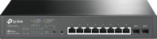 TP-Link 8Port, 8x1Gb - 2xSFP Smart Switch PoE+