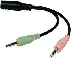 Audio Adapter 3.5 mm (F) -> 2x 3.5 mm (M) LogiLink