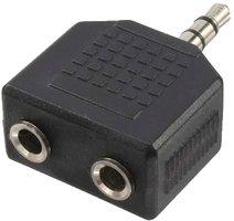 Adapter 3,5 mini jack 1x  2x 3,5 mini jack LogiLink