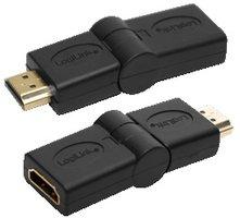 Adapter HDMI (F)  HDMI (M) 180° draaibaar LogiLink