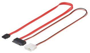 SATA Goobay 0,3m 1.5GBs / 3GBs Slimline + voeding