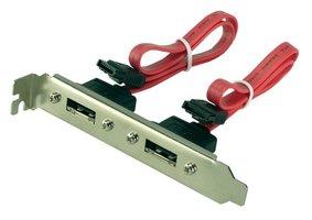 Adapter 2x Sata --> 2x eSata bracket LogiLink