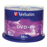 Verbatim DVD+R 4.7 GB 50 stuks spindel 16x