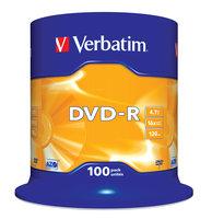 Verbatim DVD-R 4.7 GB 100 stuks spindel 16x