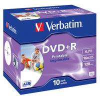 Verbatim DVD+R 4.7 GB 10 stuks Jewel 16x