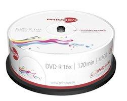 Primeon DVD-R 4.7GB 25 stuks spindel 16x Printable