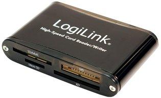 USB2.0 LogiLink All-in-1 - Aluminium behuizing zwart