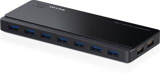 TP-Link 7 Port Hub, USB 3.0 actief zwart 2x power charge