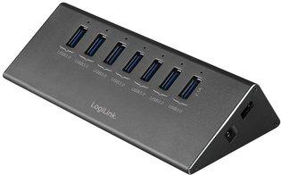 LogiLink 8 Port Hub, USB 3.0 actief (aluminium)