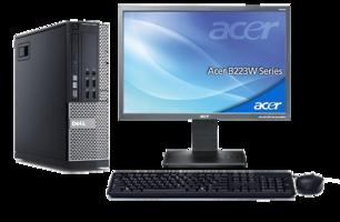 Computer set Dell Optiplex 990 i3 240GB SSD Windows 10 Pro + 22 inch  Acer monitor
