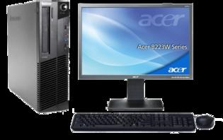 Computer set  Lenovo ThinkCentre M81 - Intel G630 4GB - 240GB SSD - Windows 10 + 22 inch  Acer monitor