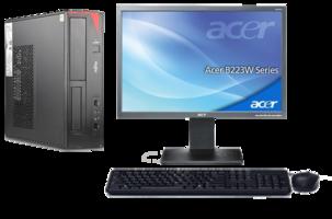 Computer set  Fujitsu ESPRIMO E420 - Intel G3250 - 4GB - 240GB SSD - Windows 10 + 22 inch  Acer monitor