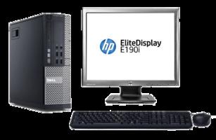 Computer set Dell Optiplex 990 i3 240GB SSD Windows 10 Pro + 19 inch  HP monitor