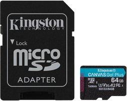 SDXC Card Micro 64GB Kingston UHS-I U3 Canvas Go! Plus