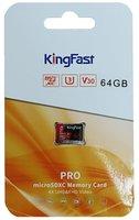 SDHC Card Micro 64GB Kingfast UHS-I U3 V30 A1 P500