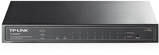 TP-Link 8Port, 8x1Gb - 2xSFP Managed PoE