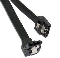 SATA OEM 0.40m 6GBs 90° hoek met clip Zwart