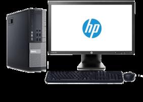 Computer set Dell Optiplex 990 i3 240GB SSD Windows 10 Pro + 23 inch HP monitor