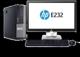 Computer set Dell Optiplex 990 i3 240GB SSD Windows 10 Pro + 23 inch HP E232 monitor