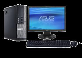 Computer set Dell Optiplex 990 i3 240GB SSD Windows 10 Pro + 19 inch ASUS VW199DR monitor
