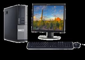 Computer set Dell Optiplex 990 i3 240GB SSD Windows 10 Pro + 19 inch Lenovo L1900PA monitor