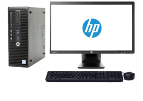 HP Elitedesk 400 G3 Core i5-6500-8GB-128GB SSD-Wind 10 Pro + 23 inch HP E231 monitor