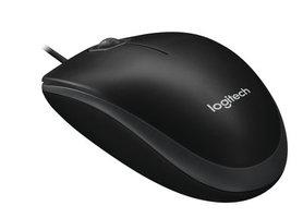 Partij 10 stuks muizen Logitech B100 Optical USB Zwart bedraad