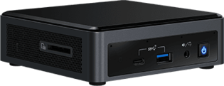 Intel NUC Frost Canyon BXNUC10i3FNK2(slim) zwart