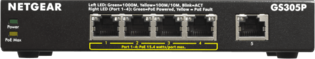 Netgear 5 Poort GS305P-100PES PoE 1GB