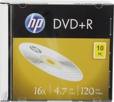 HP DVD+R 4.7 GB 10 stuks Slimcase 16x