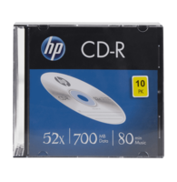 HP CD-R80 700MB 10 stuks Slimcase 52x