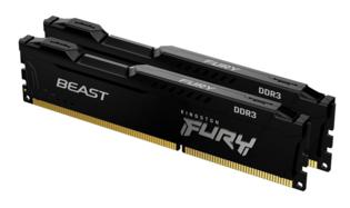 8GB DDR3/1600 CL10 (Kit of 2) Kingston FURY Beast Black