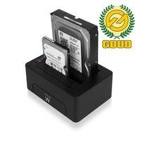 Ewent EW7014 Dual Docking Station USB 3.1 Gen1 (USB3.0) voor 2.5 en 3.5 inch SATA HDD/SSD